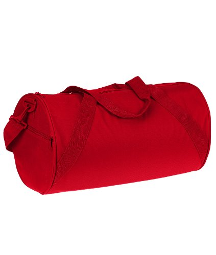 UltraClub Recycled Barrel Duffel Bag_One Size_Red (Duffle Small Recycled)