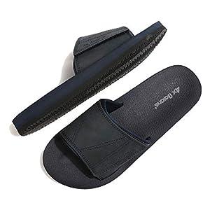 ARRIGO BELLO Hommes Claquette Semelle en Latex Sandales Mode été Piscine Plage Tong avec Cuir Taille 41-46