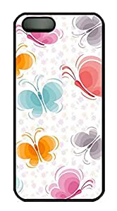 iPhone 5 5S Case Butterflies PC Custom iPhone 5 5S Case Cover Black by icecream design