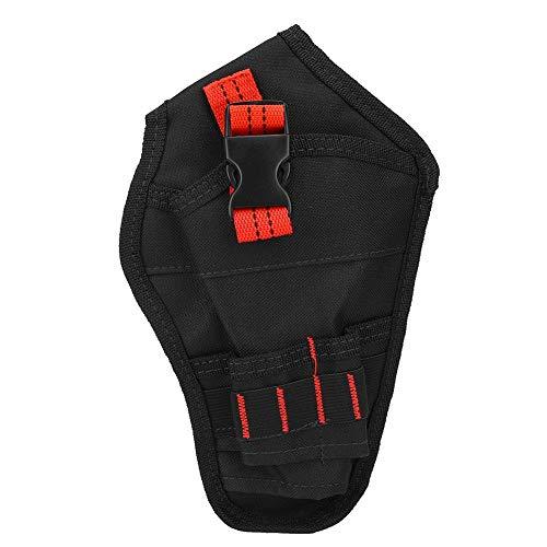 Bohrsack, tragbarer Oxford-Stoff-Mini-Taillentasche Bohrerhalter Aufbewahrungsbeutel für Elektrobohrwerkzeug(rot)