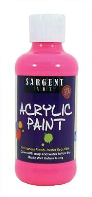 Sargent Art 22-2229 8-Ounce Fluorescent Acrylic Paint, Pink