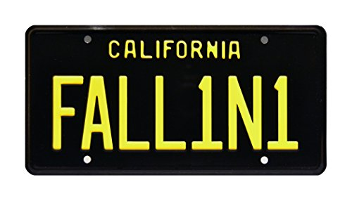 Celebrity Machines Friday Metal Stamped License Plate