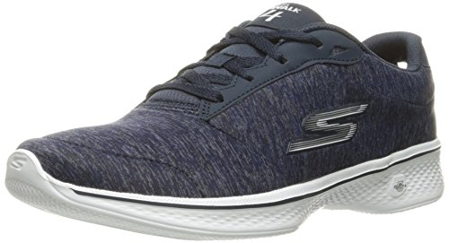 4 Scarpe Da white Ginnastica Heather Go Navy Walk Skechers Donna Basse glorify qEwBXaU