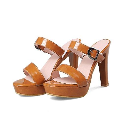 a 40 tavola sandali sandali signore allacciati i tacchi super sandali giallo i moda sandali tqOwwHExR