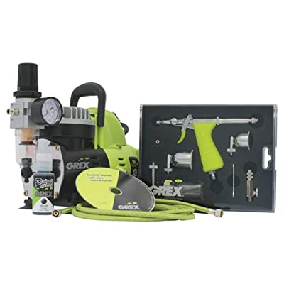 Image of Airbrush Sets Grex GCK02 Airbrush Combo Kit with Tritium.TS3 Airbrush, AC1810-A Compressor, Accessories and DVD