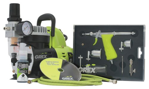 Grex GCK02 Airbrush Combo Kit with Tritium.TS3 Airbrush, AC1810-A Compressor, Accessories and DVD by Grex Airbrush