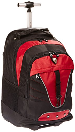 CALPAK Night Vision Deep Red 18-inch Rolling Multi-compartment Backpack