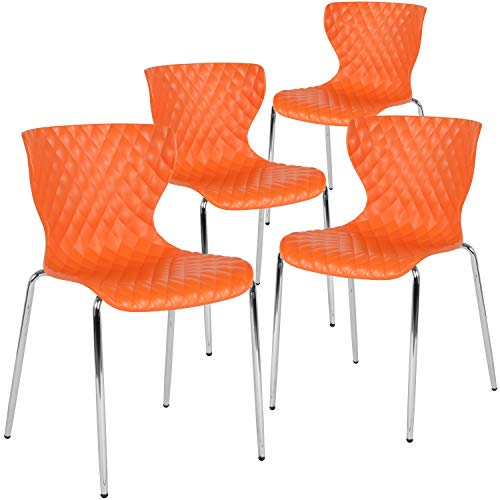 Flash Furniture 4-LF-7-07C-ORNG-GG Home & Office Chairs, 4 Pack, Orange