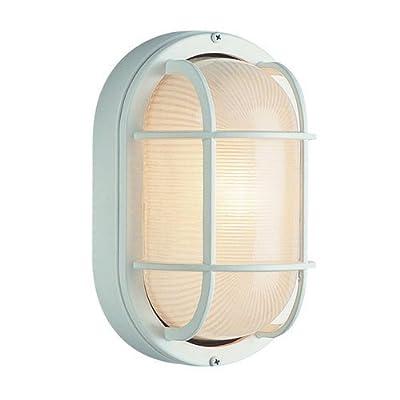 Trans Globe Lighting 8-1/2-Inch 1-Light Medium Outdoor Bulkhead