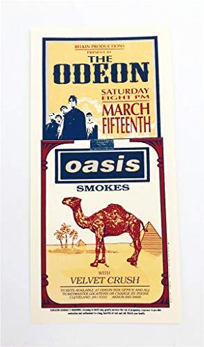 Oasis Velvet Crush Rock Concert Silkscreen Handbill Poster Mark Arminski