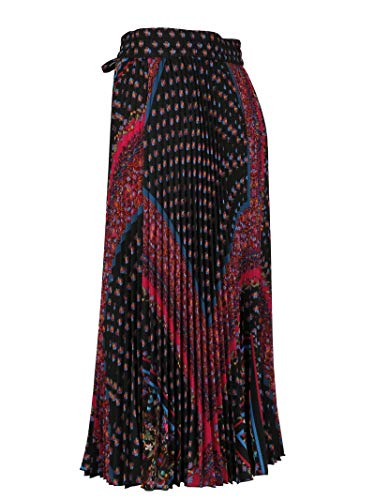 Multicolore Red Polyester QR0RA36041L0NO Femme Jupe Valentino pq6rqwt