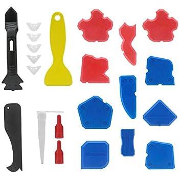 22 Pieces Caulking Tool Kit, Wobe 3 in 1 Caulking Tools ...