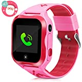 LTAIN Kids Smart Watch Waterproof Phone Smartwatch for Children Anti-Lost GPS Tracker Phone Watch with 1.44 inch Touch Screen SOS Canera Timer Game Birthday Gift for Boys and Girls(Pink)