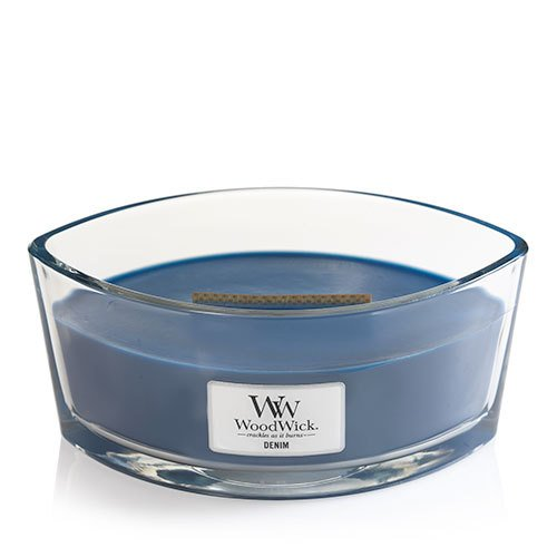 DENIM WoodWick New Collection HearthWick Flame Large Oval Jar Scented Candle - 16 (Oval Jar)