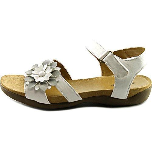 ARRAY Sangria Women W Open-Toe Leather Slingback Sandal White olMADUk3mg