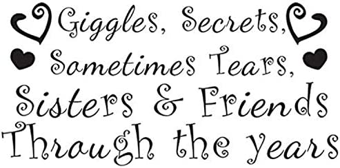 Wall Stickers Sisters Friends Quote Bedroom Giggles Secrets Art Decals Vinyl Hom