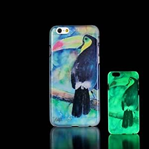 LCJ Toucan Pattern Glow in the Dark Hard Case for iPhone 6 Plus