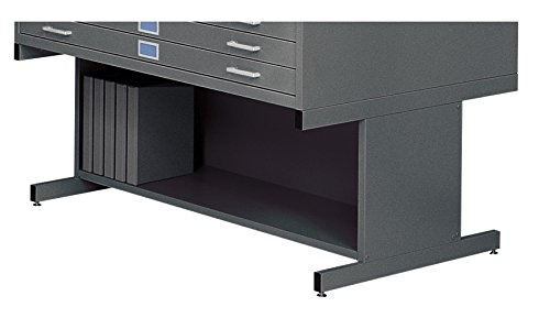 Safco Products 4979BL Flat File High Base for 5-Drawer 4998BLR Flat File, sold separately, Black