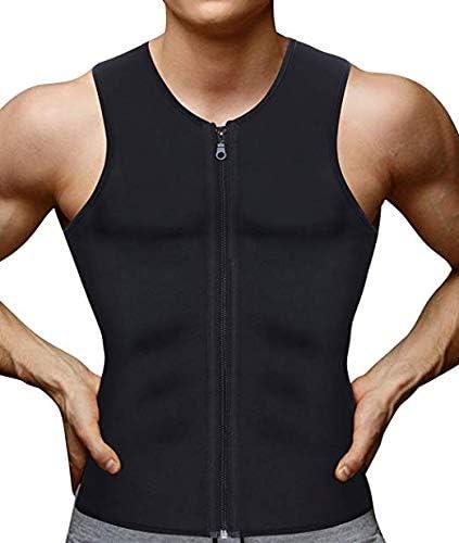 JL-Q Hombres Peso Pérdida Chaleco Neopreno Peso Pérdida Deportes Camisa Sauna Traje Corsé Grasa Quemador Cintura Chaleco De Entrenamiento (Negro),XXL: Amazon.es: Hogar