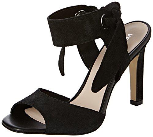 Vero Moda Vmmalene Leather Sandal - Sandalias de Talón Abierto Mujer Negro