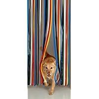 Cortina de tiras para puerta exterior, cortina tipo listones para evitar que entren insectos, tradicional, multicolor