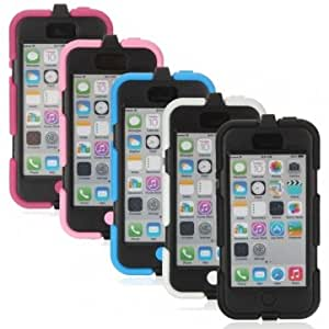 Rubber Combo Shockproof Heavy Duty Case With Belt Clip For iPhone 5C --- Color:Black