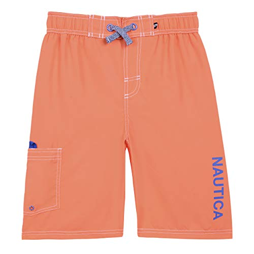 - Nautica Little Boys' Swim Trunk with UPF 50+ Sun Protection, Anchor Hibiscus, Large (6)