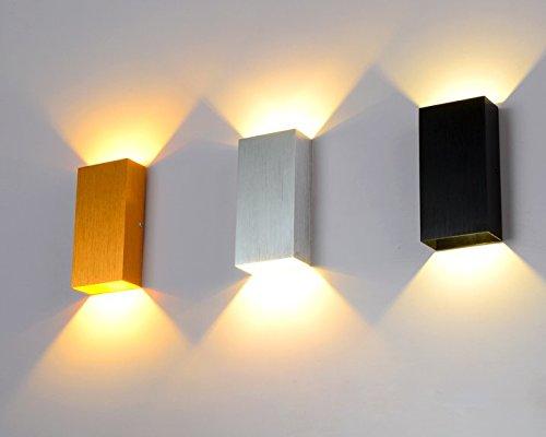 Jiay oujia moderno alluminio wandleuchten interno 3 w up down bianco