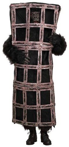 Forum Gorilla In A Cage Costume, Brown, One Size