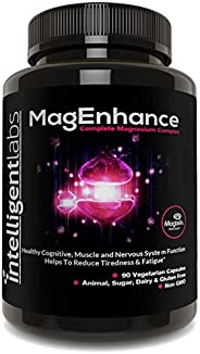 MagEnhance Magnesium-L-Threonate Complex, With Magnesium Glycinate and Taurate, 100% Money Back Guarantee! Vit