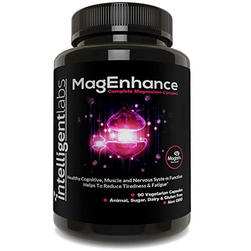 Intelligent Labs MagEnhance Magnesium Supplement, Magnesium-L-Threonate Complex with Magnesium Glycinate and Taurate, 90…