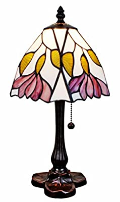 Amora Lighting Tiffany Style AM016TL08 15.5-inch Floral Mini Table Lamp