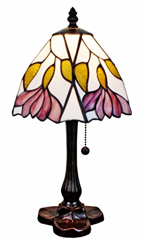 - Amora Lighting Tiffany Style AM016TL08 15.5-inch Floral Mini Table Lamp
