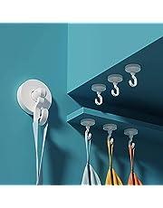 Anupow 4 Pack zelfklevende haken, zware deurhaken handdoekhaken voor het ophangen van jas, hoed, kleding, waterdichte kleverige muurhaken voor badkamers, woonkamer, slaapkamer, keuken, toilet, deur