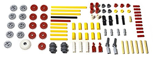 91 Piece LEGO TECHNIC Supplemental Parts Pack: genuine LEGO gears, axles, transmission parts. Mindstorms, EV3, NXT