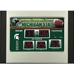 Evergreen Michigan State Spartans Scoreboard Desk Clock