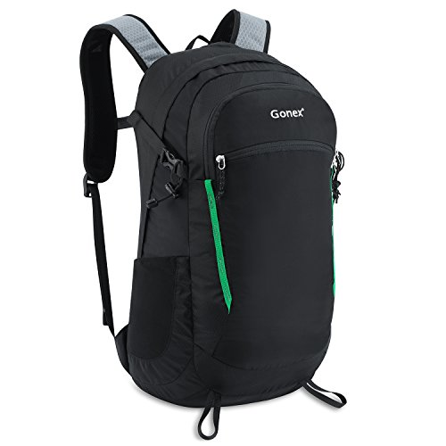 Gonex 35L Hiking Backpack Water Resistant Trekking Rucksack for Outdoor Hiking Travel Climbing Camping Mountaineering(Black)