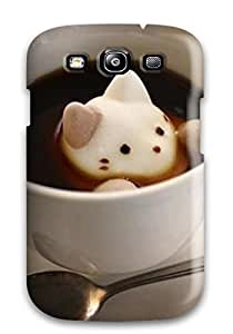 Awesome Galaxy Defender Tpu Hard Case Cover For Galaxy S3 Cat Cute Food Kawaii Coffee