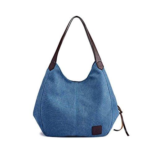Bolsos Azul La Hombro Lona Los Mujeres Las De Moda Desconocido Oscuro dFIxqnwzBd