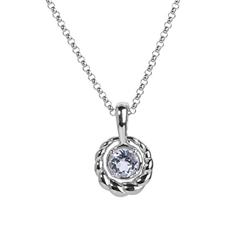 Carolyn Pollack Sterling Silver White Topaz Interchangeable Pendant Necklace 16 to 18 Inch ()