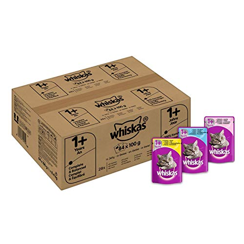 whiskas 1+ Wet Cat Food for Adult Cats, Mixed Selection...