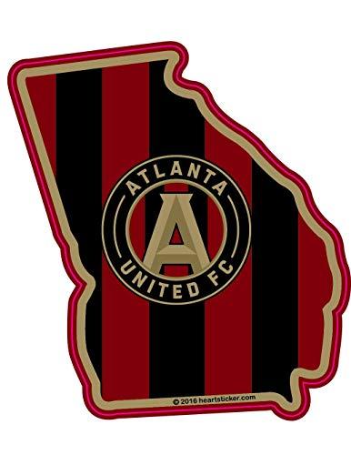 Decal Cut United Die (MLS Atlanta United FC Sticker in Georgia Die-Cut, Vinyl, All-Weather, Waterproof, Super Adhesive, Outdoor & Indoor Use Sticker. Includes Free Bonus Sticker.)