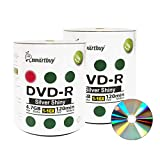 Smart Buy 200 Pack Dvd-r 4.7gb 16x Shiny Silver Blank Data Video Movie Recordable Media Disc, 200 Disc 200pk