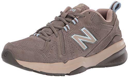 (New Balance Women's 608v5 Casual Comfort Walking Shoe, Bungee/Burlap/Wren, 8 B US)