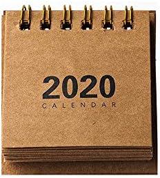 Y-RD Mini-Kalender 2020, Neujahr Mini-Tischkalender Kraft Paper Plan einfache Desktop-Tischkalender Monatskalender minimalistischen Desktop-Dekoration (Color : Style c)