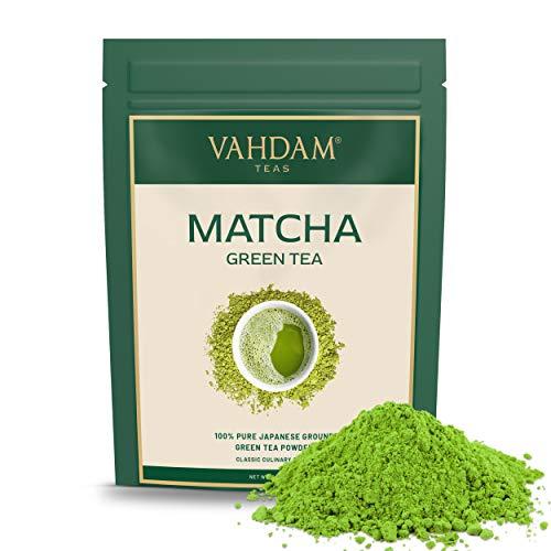 VAHDAM, polvo de te verde matcha (100 g, 50 tazas), polvo de matcha japones puro y sin mezclar 100% certificado, te de matcha de grado culinario clasico | 137x Anti-OXIDANTES