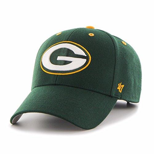 NFL Green Bay Packers '47 MVP Adjustable Hat, One Size, Dark (Nfl Throwback Wool)