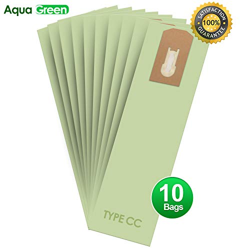 AQUA GREEN Replacement for Oreck XL Type CC Upright Vacuum Cleaner Bags - Oreck Part # CCPK8DW (10 Pack)