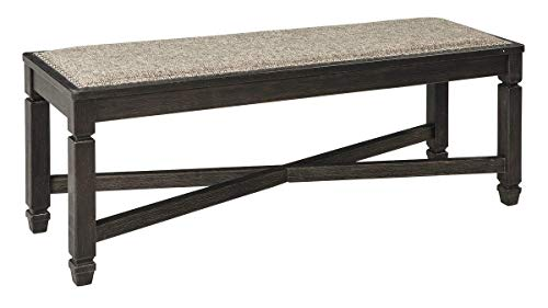 Ashley Furniture Signature Design - Tyler Creek Upholstered Dining Room Bench - Two-Tone - Textured Antique Black Finish