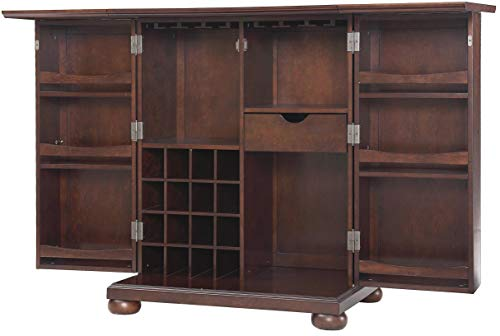 Crosley Furniture KF40001AMA Alexandria Expandable Top Bar Cabinet - Vintage Mahogany from Crosley Furniture